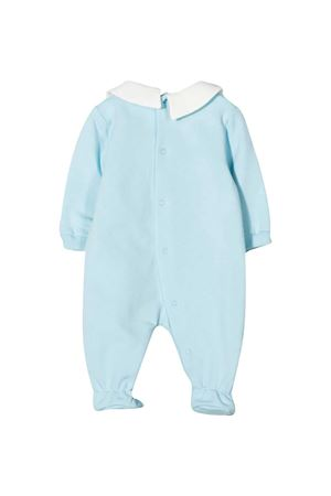 Tutina azzurra con stampa frontale Moschino kids MOSCHINO KIDS | 1491434083 | MUT01OLDA1440304