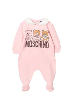 Pink romper with frontal toy press Moschino kids MOSCHINO KIDS | 1491434083 | MUT01OLDA1450209