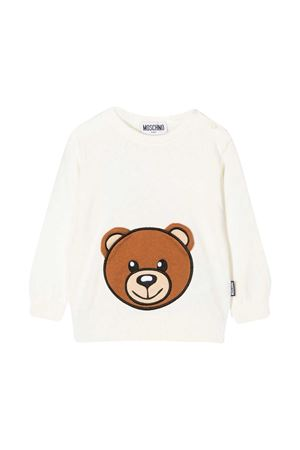White baby sweater Moschino Kids  MOSCHINO KIDS | 7 | MUW00JLHE0910063