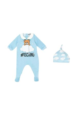 Teddy baby blue set Moschino Kids  MOSCHINO KIDS | 75988882 | MUY02XLCE0080436
