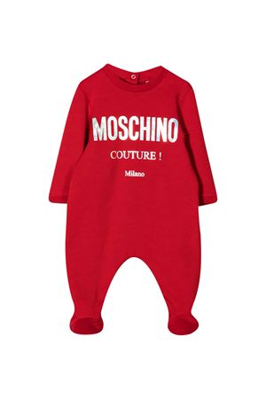 Red pajamas with frontal logo press Moschino kids MOSCHINO KIDS | 75988882 | MUY034LDA1650584