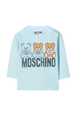 Felpa azzurra neonato Moschino Kids MOSCHINO KIDS | 8 | MWO000LBA1140304