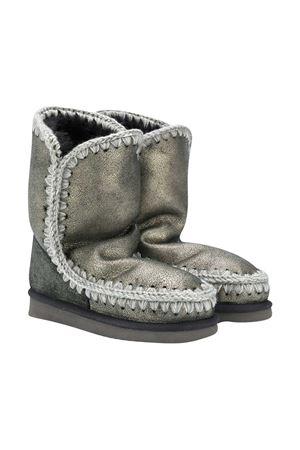 Metallic gray Eskimo boots Mou Kids  Mou kids | 12 | 101000BDUBLK