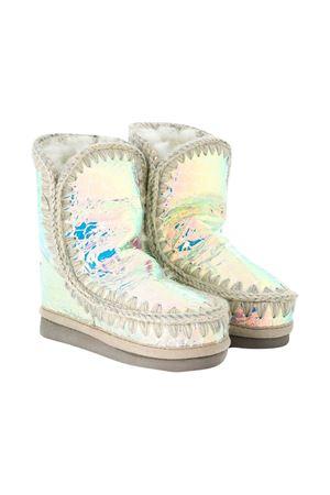 Metallic white Eskimo boots Mou Kids Mou kids | 12 | 101000CIRCWHI