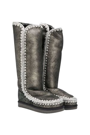 Gray knee boots teen Mou Kids  Mou kids | 12 | 101002BDUBLKT