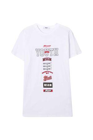 T-shirt bianca teen MSGM Kids MSGM KIDS   8   025028001T