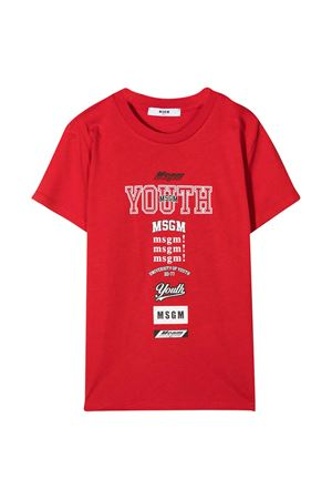 Red T-shirt teen MSGM kids  MSGM KIDS | 8 | 025028040T