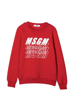 Red sweatshirt MSGM kids  MSGM KIDS | -108764232 | 025039040