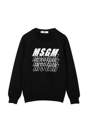 Black sweatshirt teen MSGM kids MSGM KIDS | -108764232 | 025039110T