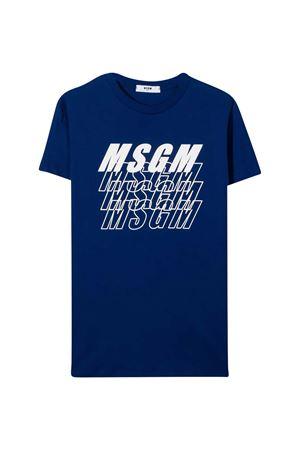 T-shirt blu teen MSGM Kids MSGM KIDS   8   025040130T