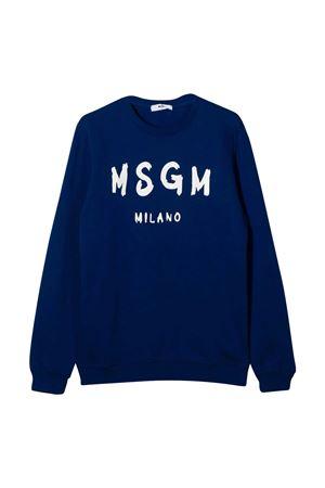 Felpa blu teen con logo frontale MSGM kids MSGM KIDS | -108764232 | 025045130T