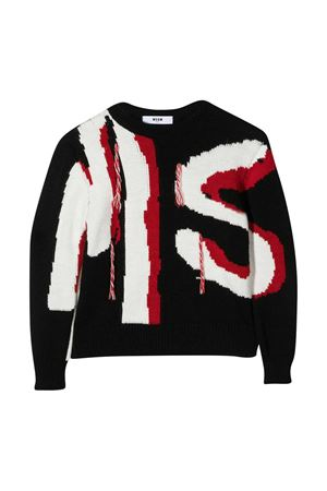 Maglione nero MSGM kids MSGM KIDS   7   025079110