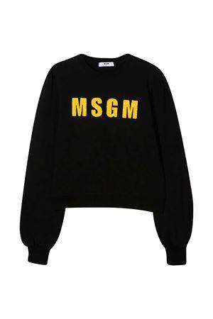 Felpa nera con logo frontale MSGM kids MSGM KIDS | -108764232 | 025121110