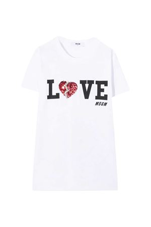 White T-shirt MSGM kids  MSGM KIDS | 8 | 025135001