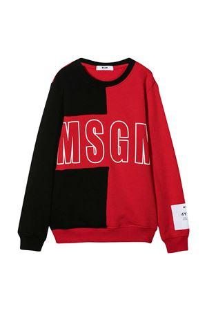 Maglione teen rosso e nero con logo MSGM kids MSGM KIDS | -108764232 | 025168110/07T
