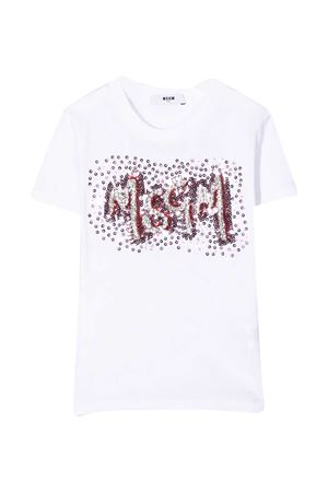 White t-shirt Msgm Kids  MSGM KIDS | 8 | 025170001