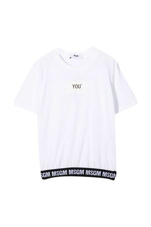 White T-shirt MSGM kids  MSGM KIDS | 8 | 025207001