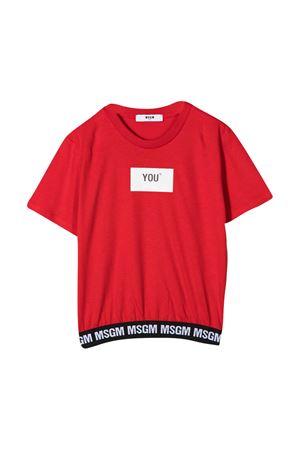 T-shirt rossa teen MSGM kids MSGM KIDS | 8 | 025207040T