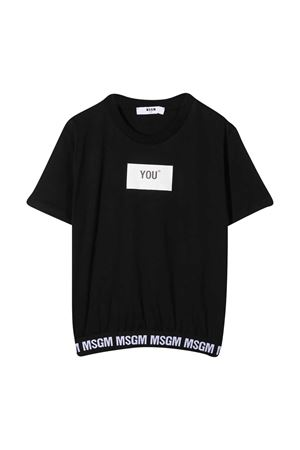 Black t-shirt MSGM kids  MSGM KIDS | 8 | 025207110