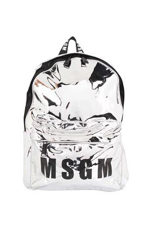 Silver backpack Msgm Kids MSGM KIDS | 5032345 | 025231122