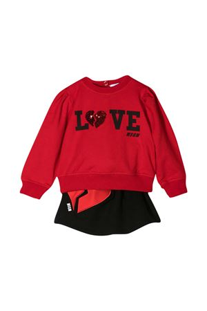 Two-piece set red Msgm Kids