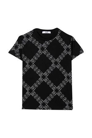 Black T-shirt teen MSGM kids  MSGM KIDS   8   025640110T