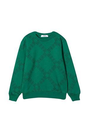 Green sweatshirt teen MSGM kids  MSGM KIDS | -108764232 | 025642080T