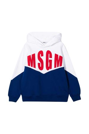 Blue and white sweatshirt teen MSGM kids  MSGM KIDS | -108764232 | 025649001/07T