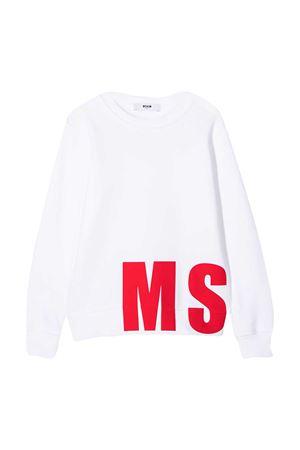 Felpa bianca MSGM Kids MSGM KIDS | -108764232 | 025654001
