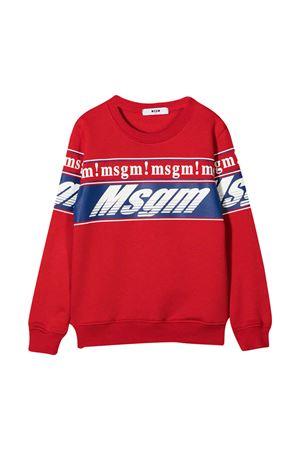 Red sweatshirt MSGM Kids  MSGM KIDS | -108764232 | 025661040