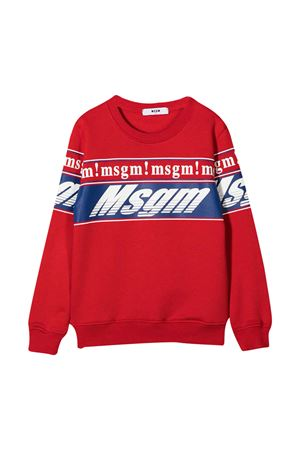 Red sweatshirt teen MSGM Kids  MSGM KIDS | -108764232 | 025661040T