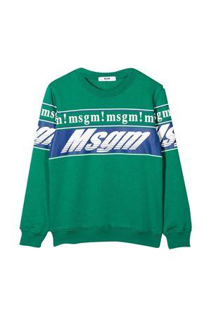 Green sweatshirt teen MSGM Kids  MSGM KIDS | -108764232 | 025661080T