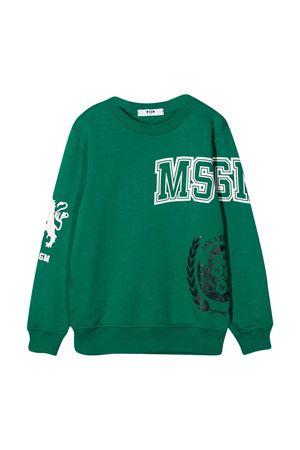 Green sweatshirt teen MSGM Kids  MSGM KIDS | -108764232 | 025694080T