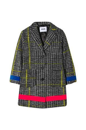 Msgm Kids Prince of Wales coat  MSGM KIDS | 17 | 025923200