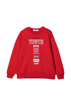 Red sweatshirt teen MSGM kids  MSGM KIDS | -108764232 | 026350040T