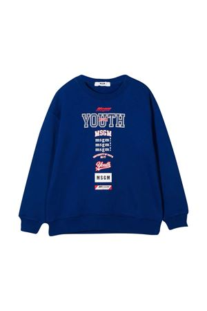 Blue sweatshirt teen MSGM kids  MSGM KIDS | -108764232 | 026350130T