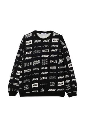Black sweatshirt MSGM kids  MSGM KIDS | -108764232 | 026388200