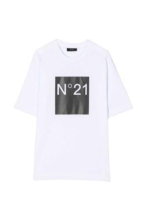 T-shirt bianca teen con manica corta N°21 kids N°21 KIDS | 8 | N214AVN00030N100T