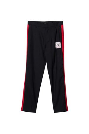 Tailored teen trousers with lataral red bands N°21 kids N°21 KIDS | 9 | N214CSN01110N806T