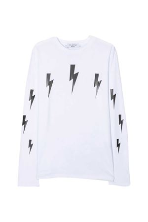 T-shirt bianca teen Neil Barrett Kids NEIL BARRETT KIDS | 8 | 026004001T