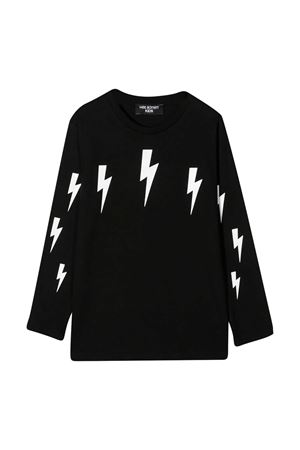 Neil Barrett Kids black t-shirt NEIL BARRETT KIDS | 8 | 026004110