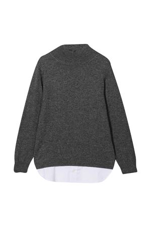 Gray sweater teen Paolo Pecora Kids  Paolo Pecora kids | 7 | PP2382ANTRAT