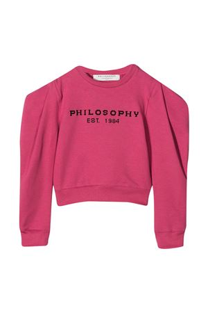 Mauve sweatshirt teen Philosophy Kids  PHILOSOPHY KIDS | -108764232 | PJFE34FE147ZH0020014T