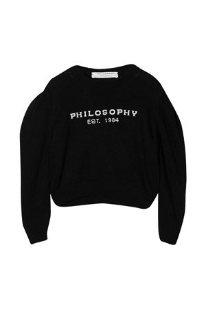Maglione nero teen Philosophy Kids PHILOSOPHY KIDS | 7 | PJMA27FL07ZH0610296T