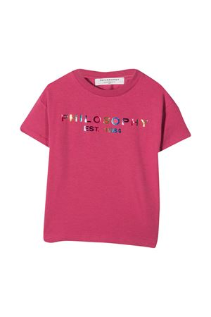 Mauve t-shirt teen Philosophy Kids  PHILOSOPHY KIDS | 8 | PJTS40JE95BZH0030024T