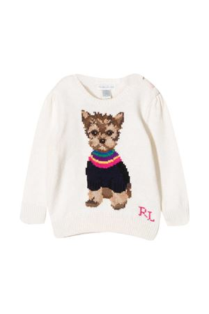 Ralph Lauren Kids newborn cream sweatshirt  RALPH LAUREN KIDS | -108764232 | 310800176001