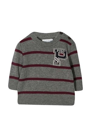 Ralph Lauren Kids gray striped sweater RALPH LAUREN KIDS | -108764232 | 320799427001