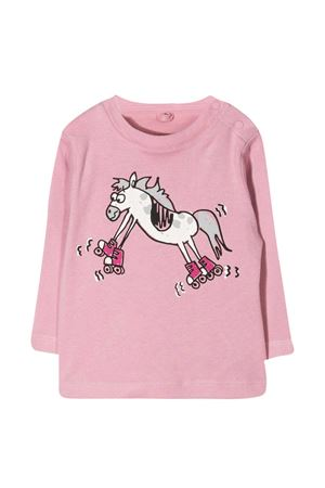 Pink t-shirt with print Stella McCartney kids STELLA MCCARTNEY KIDS | 8 | 601038SPJ235661