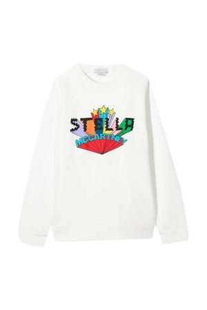 Felpa teen bianca con stampa multicolor Stella McCartney kids STELLA MCCARTNEY KIDS   -108764232   601083SPJ029100T