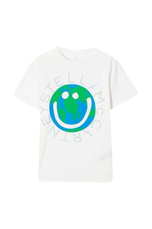 White t-shirt with multicolor print Stella McCartney kids STELLA MCCARTNEY KIDS | 8 | 601304SPJF19100